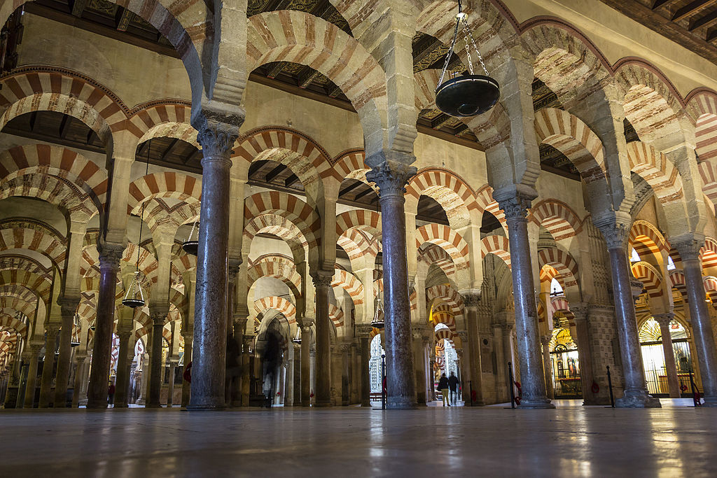 The Mezquita in Cordoba is one of the most influential works of Moorish Architecture in Spain