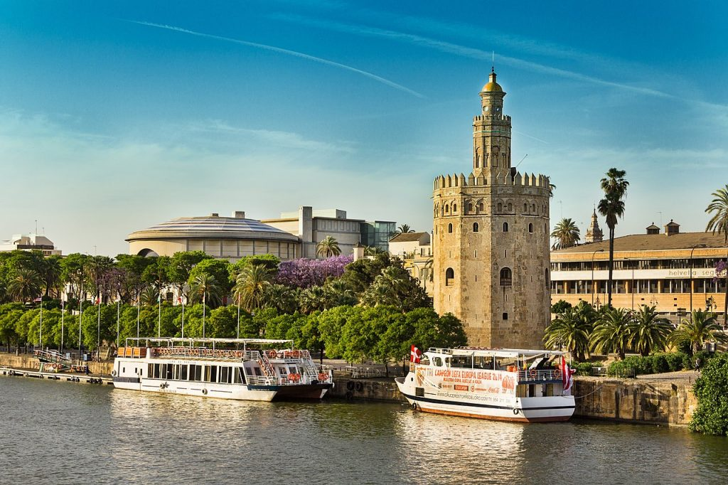 The Tower of Gold in Seville is a great example of Moorish Architecture in Spain